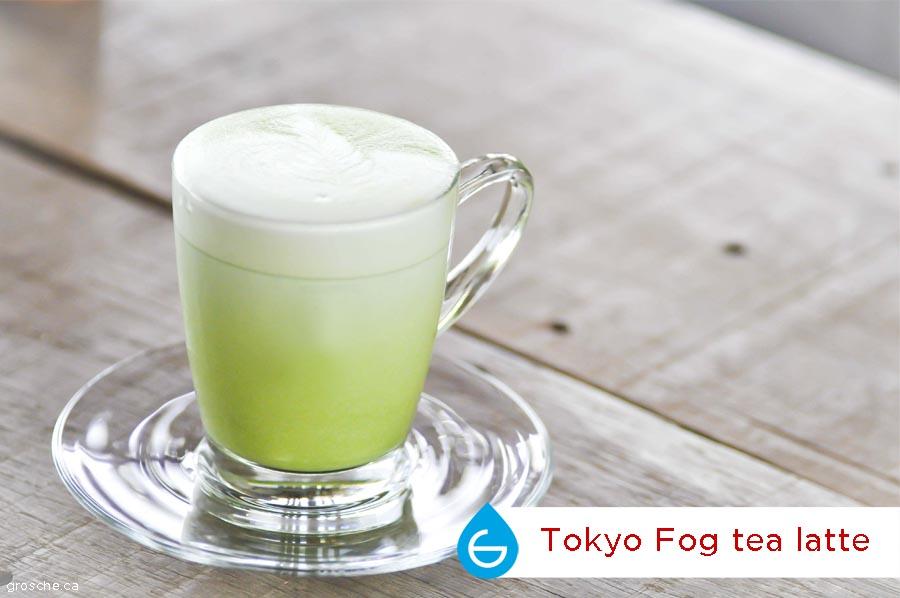 Tokyo Fog matcha latte tea, a london fog drink variation