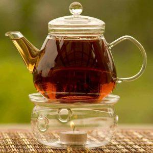 GROSCHE GLASGOW Glass Infuser Teapot on glass teapot warmer
