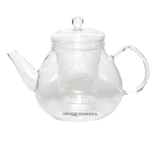 borosilicate glass teapot with infuser, infusion teapot with matching glass infuser, classy glass tea maker, infusion glass teapot for loose leaf tea, GROSCHE glasgow