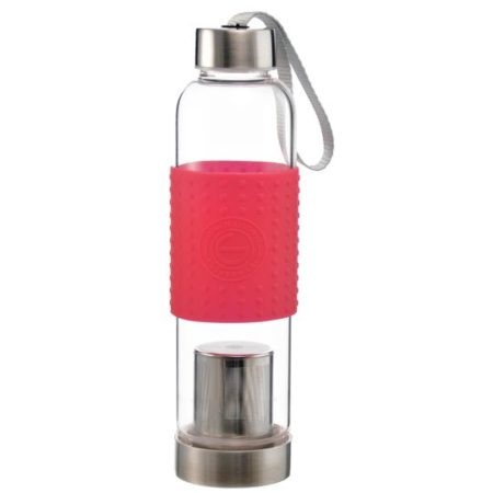marino travel water bottle and matcha maker tea infuser red