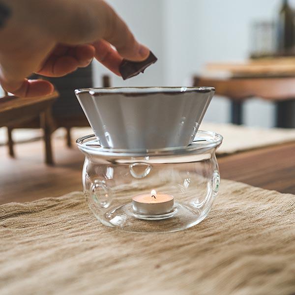 sahara teapot warmer borosilicate glass food dish warmer melting chocolate