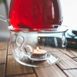 sahara teapot warmer borosilicate glass food dish warmer