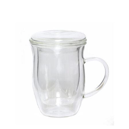 surrey glass tea infuser mug