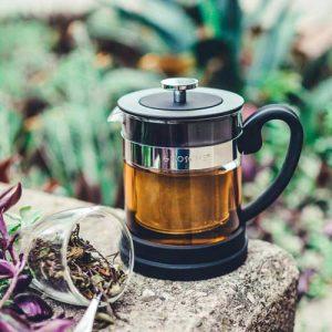 GROSCHE valencia tea infuser personal teapot black