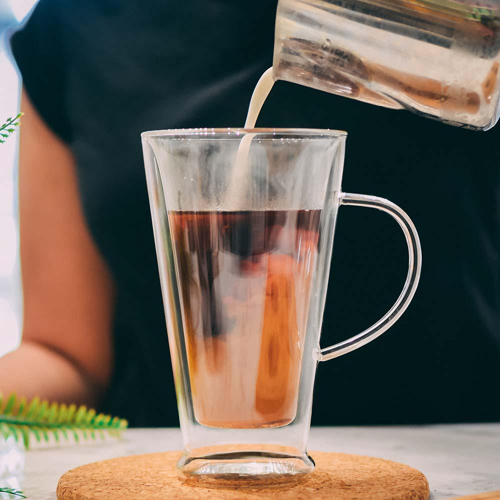 verona double walled borosilicate glass cup