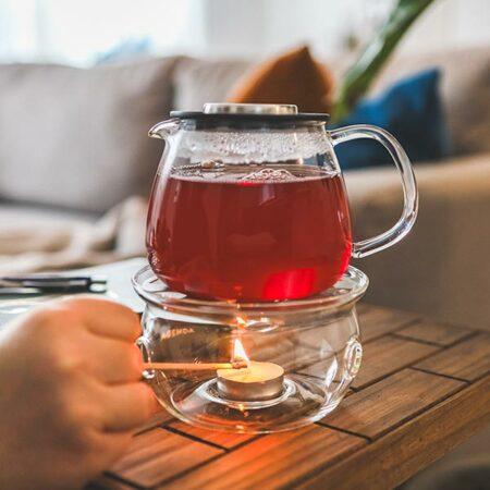 sahara teapot warmer borosilicate glass food dish warmer with waterloo teapot