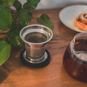 sahara teapot warmer borosilicate glass food dish warmer removable tea infuser