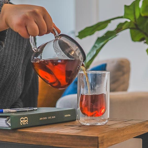 sahara teapot warmer borosilicate glass food dish warmer pouring tea