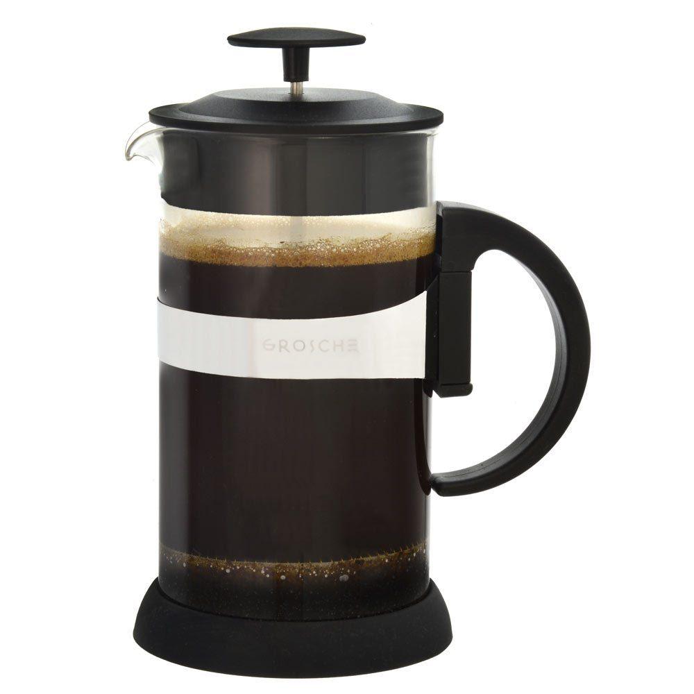 GROSCHE ZURICH Coffee French Press | Black side view