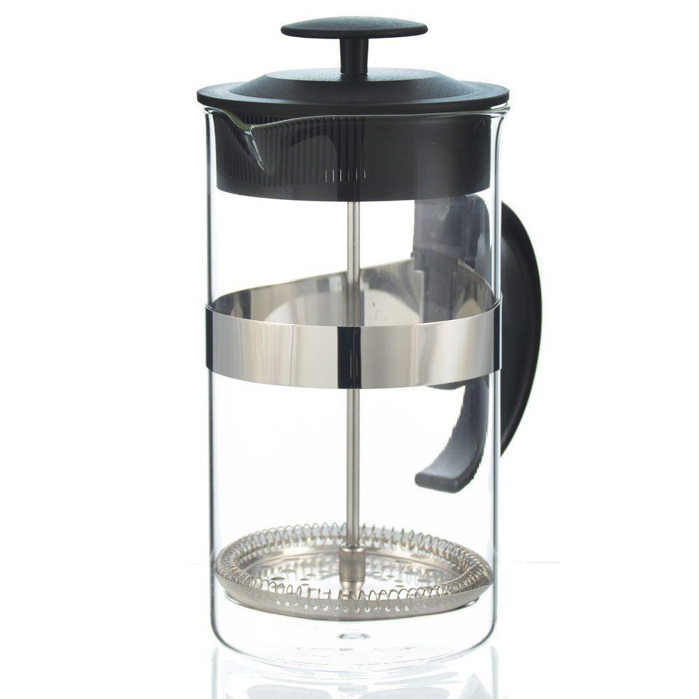 Kaffe Maestro BARISTA entry-level french press   black half front view