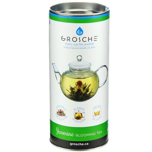 blooming tea jasmine grosche canister 12 tea balls