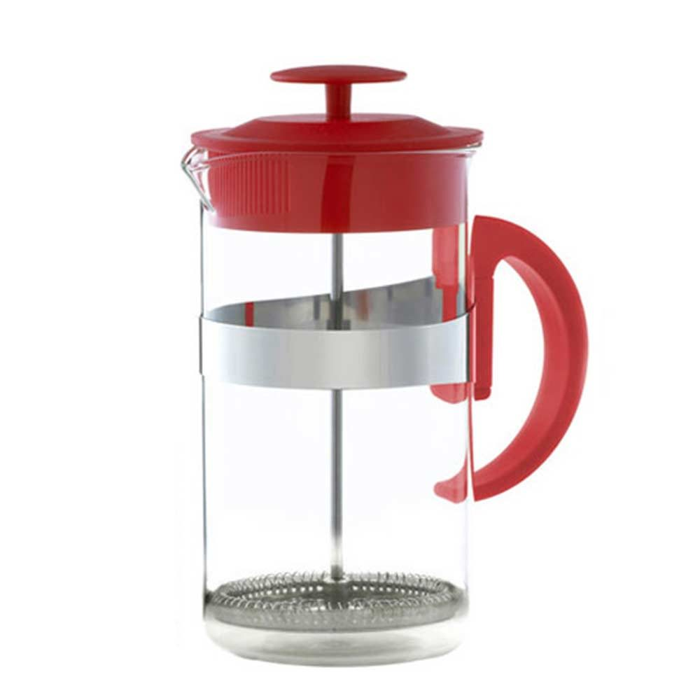 cafe au lait red french press
