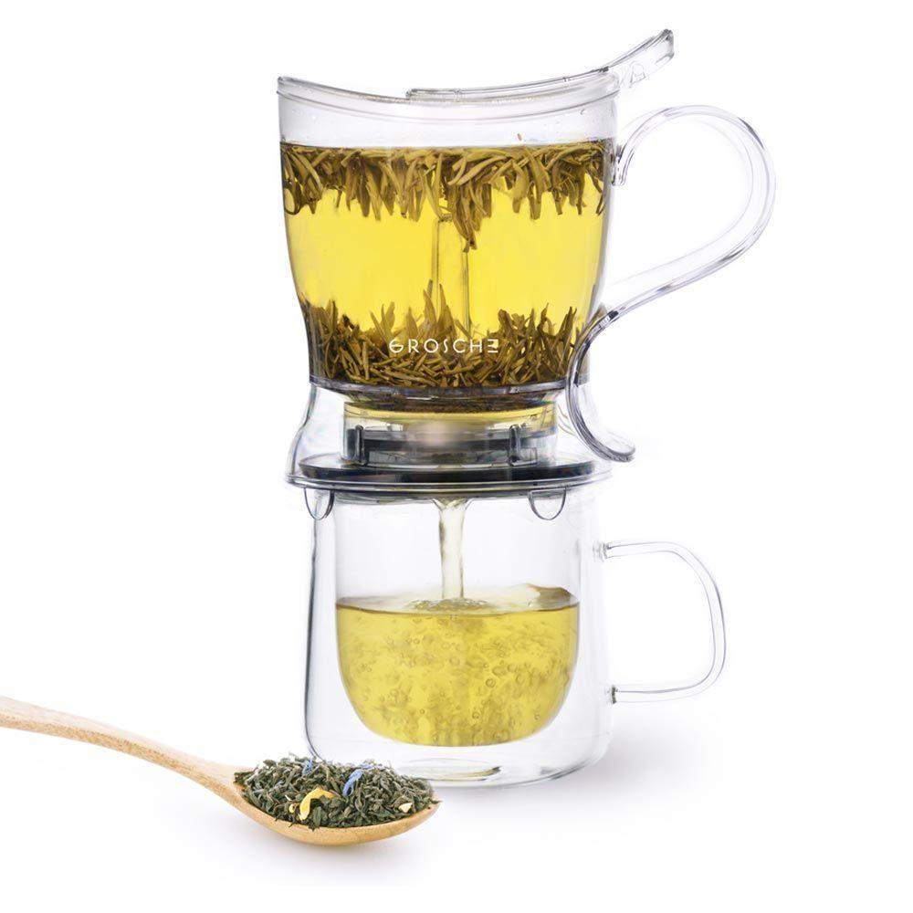 GROSCHE ABERDEEN Smart Infuser Teapot with green tea