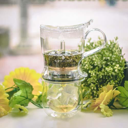 GROSCHE aberdeen making iced tea with easy tea steeper