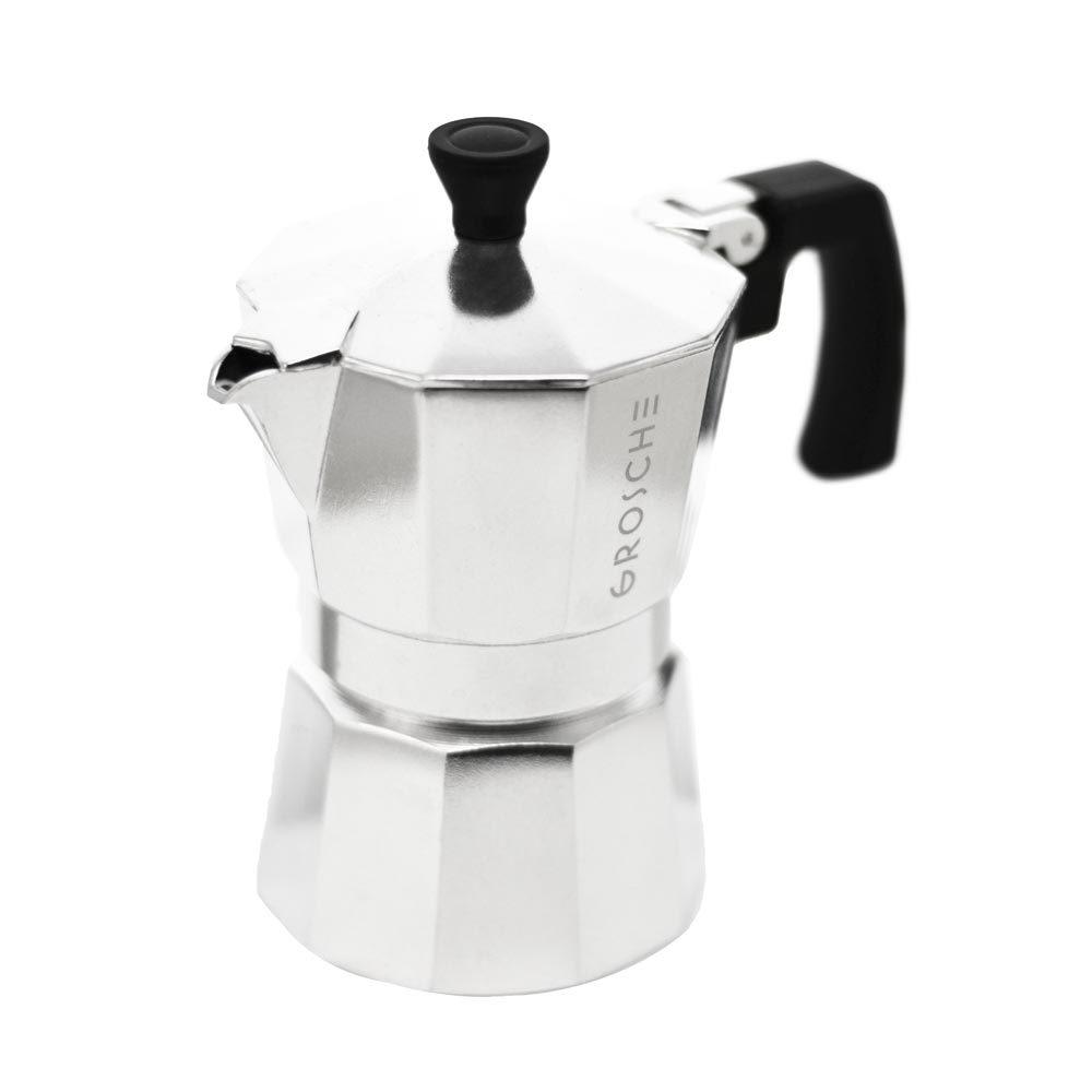 Grosche-MIlano-Stovetop-espresso-maker-3-cup-silver-moka-pot
