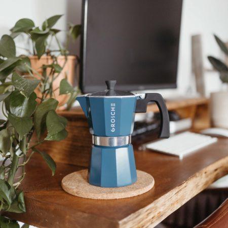 milano blue stovetop espresso maker