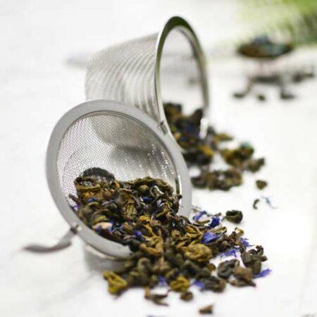 GROSCHE shark tank tea infuser with irish marble cake green tea