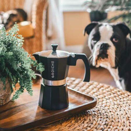 GROSCHE Milano stovetop espresso maker moka pot coffee black