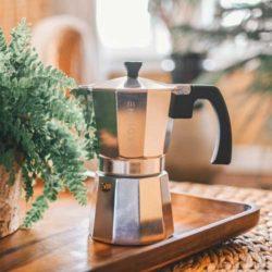 GROSCHE Milano stovetop espresso maker moka pot coffee silver