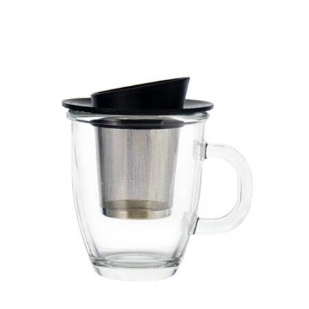 aspen glass tea infuser mug