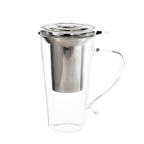 marbella glass tea mug with infuser