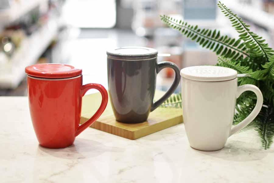 kassel GROSCHE all colours infuser ceramic mugs