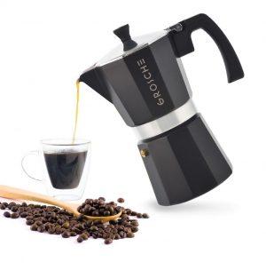 GROSCHE MILANO Stovetop Espresso Maker in black