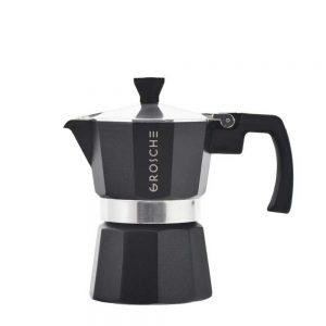 milano black stovetop espresso maker 3 cup