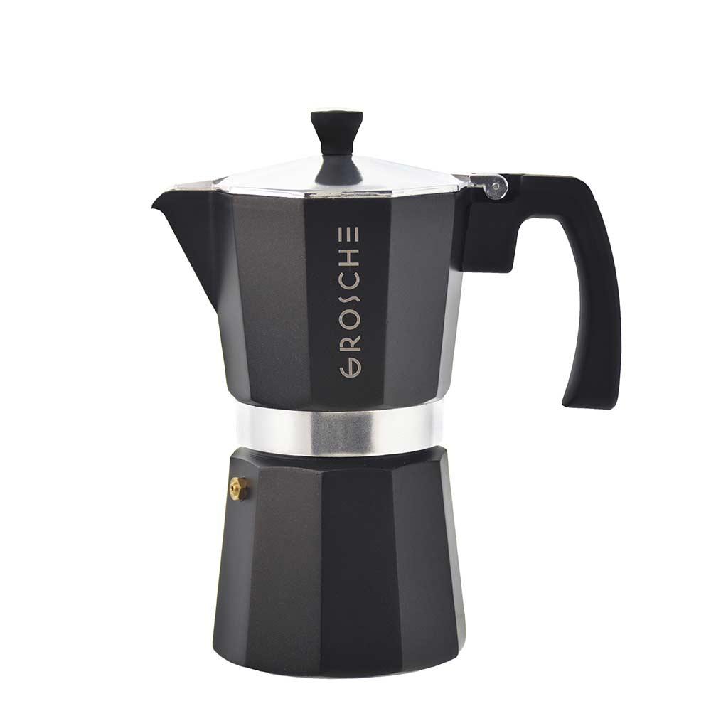 milano black stovetop espresso maker 6 cup