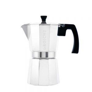 milano chrome stovetop espresso maker 6 cup