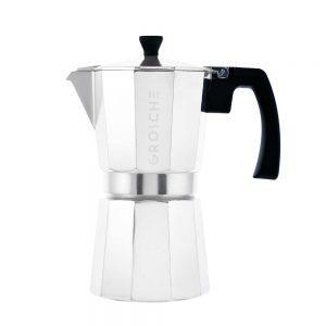 milano chrome stovetop espresso maker 9 cup