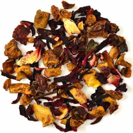 organic cranberry apple hibiscus tea