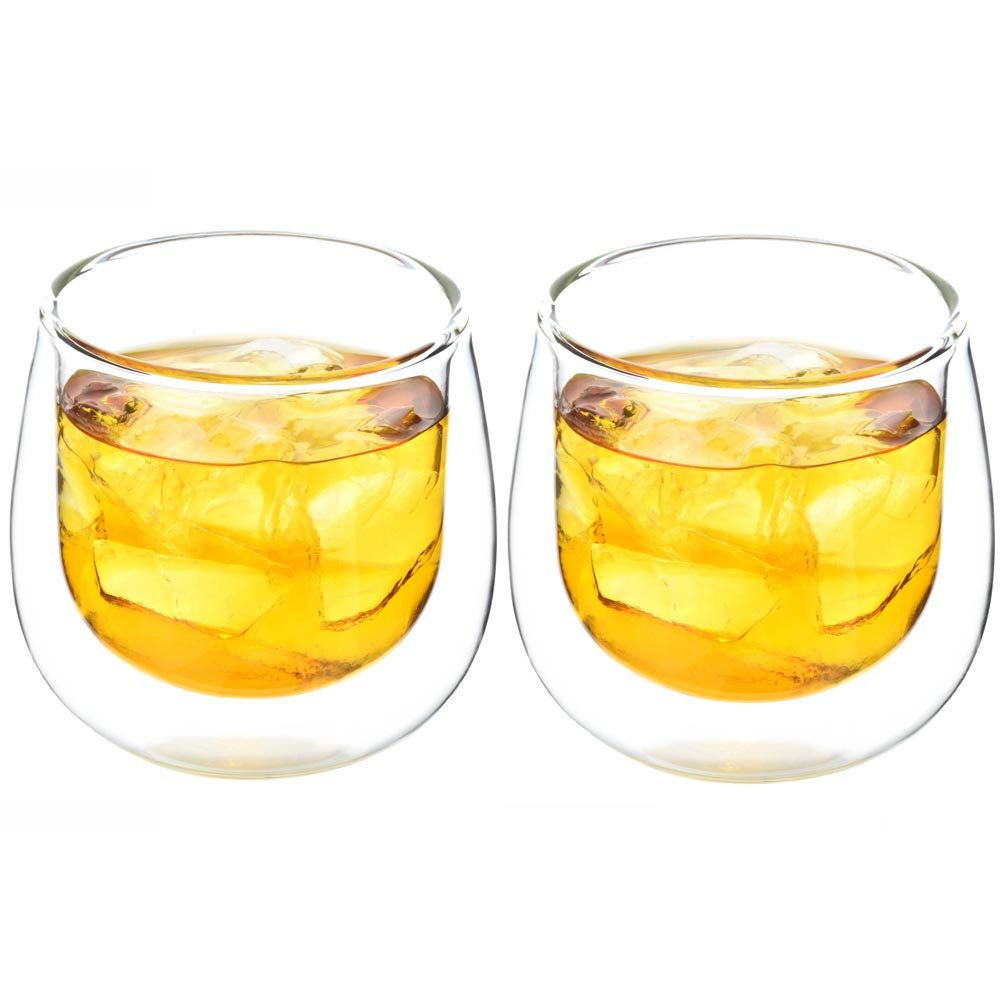 double walled glasses cups tumbler whisky scotch glasses Fresno | Grosche set of 2