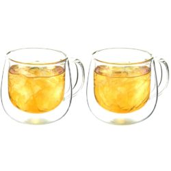 double-walled cups with handle fresno by grosche