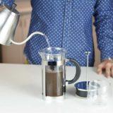 grosche boston french press making cold brew coffee