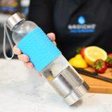 Grosche-Marino-blue-with-water-held-over-fruit-tea-water-infuser-GR-334