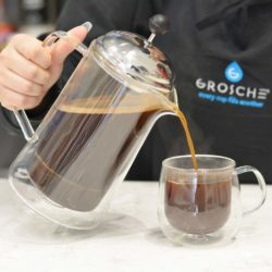 Grosche-Stanford-Double-walled-glass-french-press-pouring-brewed-coffee