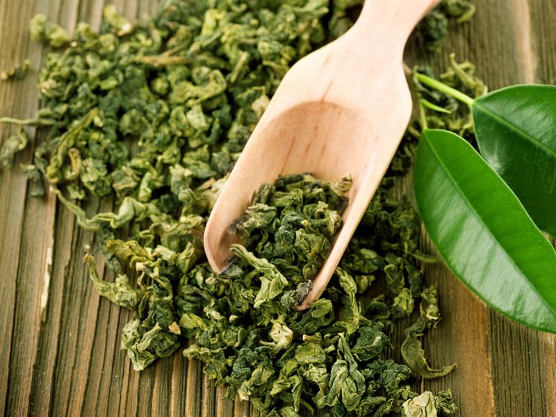 Green Tea leaves grosche