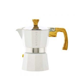 milano white stovetop espresso maker 3 cup