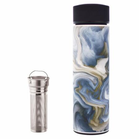 grosche infuser water bottle fruit tea stainless steel vacuum flask insulated tea infuser