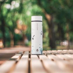 CHICAGO vacuum flask tea infuser bottle WHITE MARBLE TRAVEL INFUSER GROSCHE