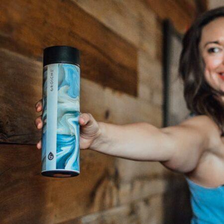 chicago tea infuser bottle saturn yoga pose