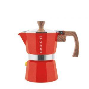 milano red stovetop espresso maker 3 cup