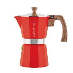 milano red stovetop espresso maker 9 cup