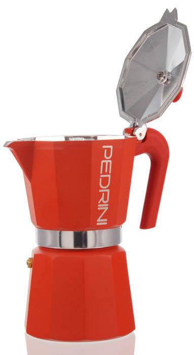 Pedrini stovetop espresso maker red color
