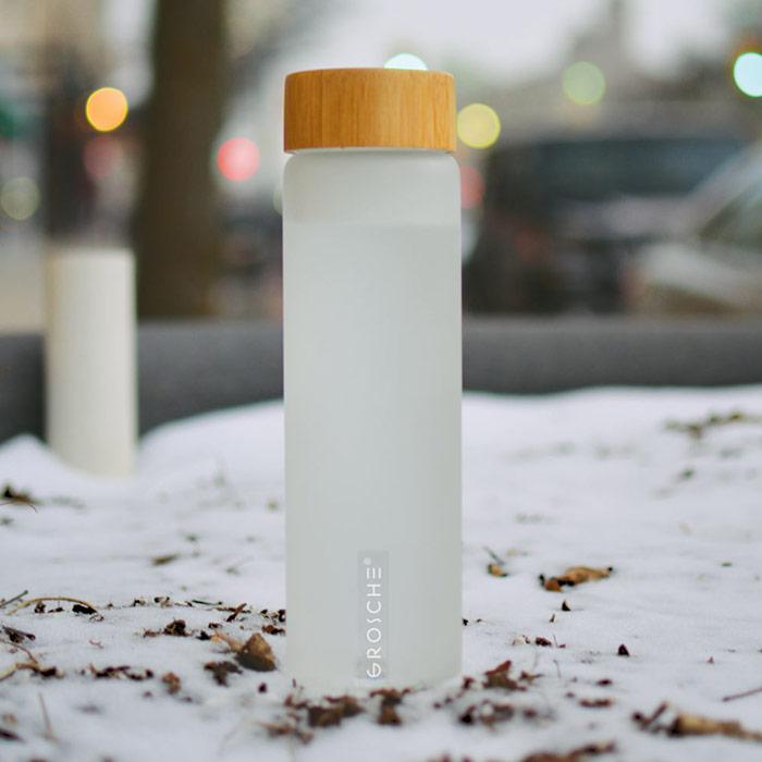 best yoga water bottle frosted glass bottle GROSCHE Venice GR 387