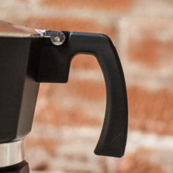 GROSCHE Milano Black stovetop espresso maker moka pot coffee soft burn guard handle