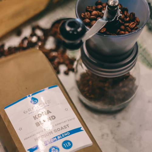 GROSCHE whole bean freshly roasted coffee beans, made to order fresh coffee, coffee beans for espresso, coffee beans for french press, coffee beans for pour over