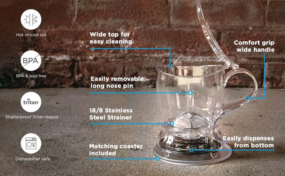 GROSCHE aberdeen key features for making loose leaf tea easy tea maker