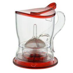 GROSCHE aberdeen red empty tea maker with matching coaster